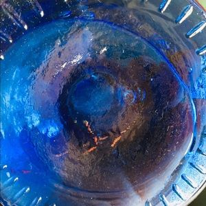 Unknown Glass Maker Accents - Beautiful Pair of Blue Glass Vases